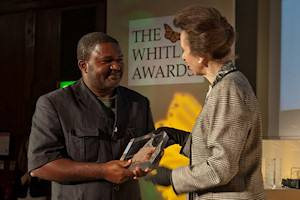 Princess presents top conservation accolade to Cameroon's Louis Nkembi