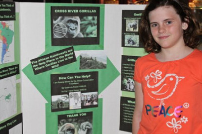 League City girl raises $700 for threatened gorillas